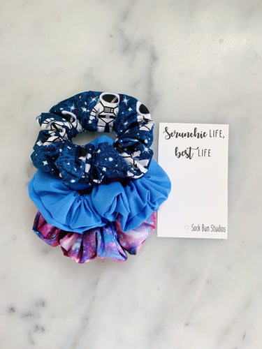 Galaxy Astronaut Outer Space Scrunchie Pack