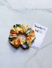 Load image into Gallery viewer, NEW WEEKLY DUO Suffragist Sunflower Scrunchie Duo