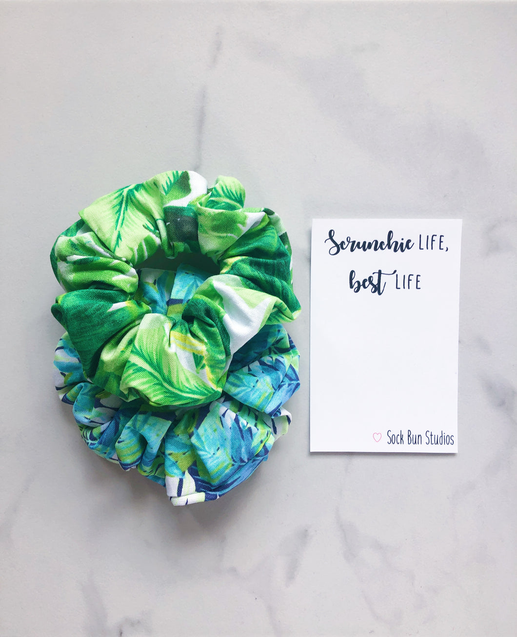 SALE Fern Scrunchie