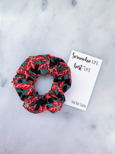 Poinsettia Christmas Scrunchie