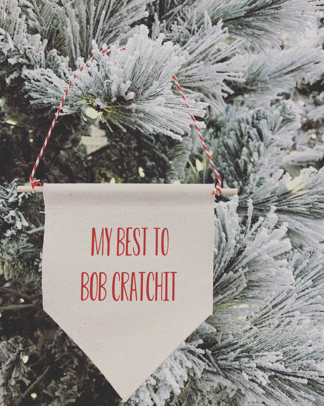 NEW My Best to Bob Cratchit Schitt's Creek Christmas Tree Mini Banner