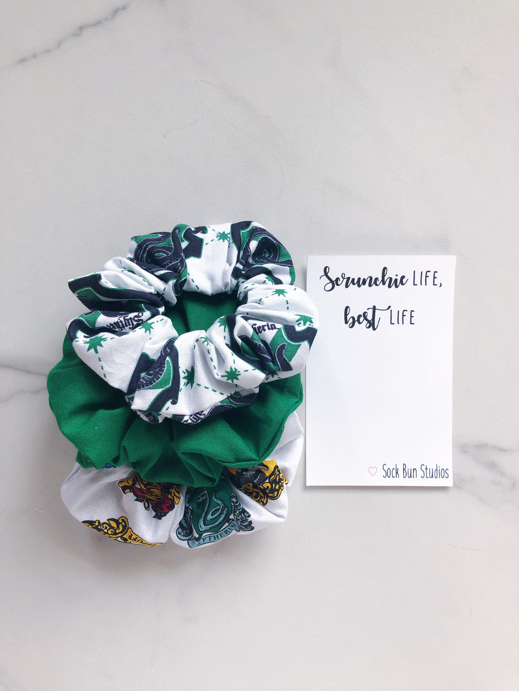 Hogwarts Slytherin Scrunchie Pack