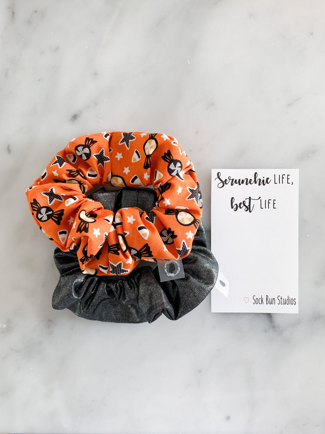 WEEKLY DUO Halloween Candy Scrunchie Duo