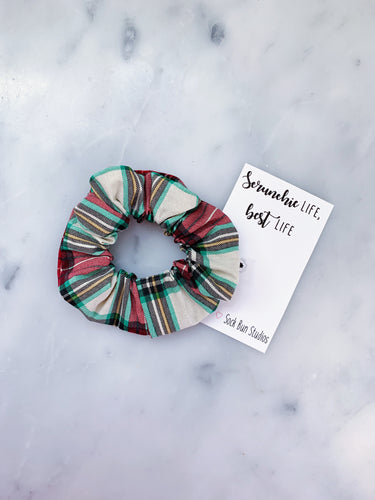 Christmas Plaid Scrunchie