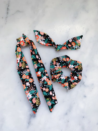 NEW Julia Child Floral Scrunchie Ties