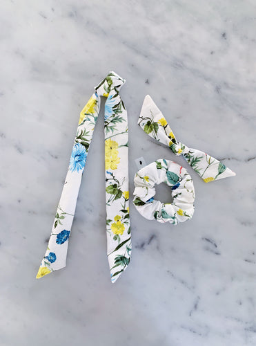 NEW Anthro Floral Scrunchie Ties