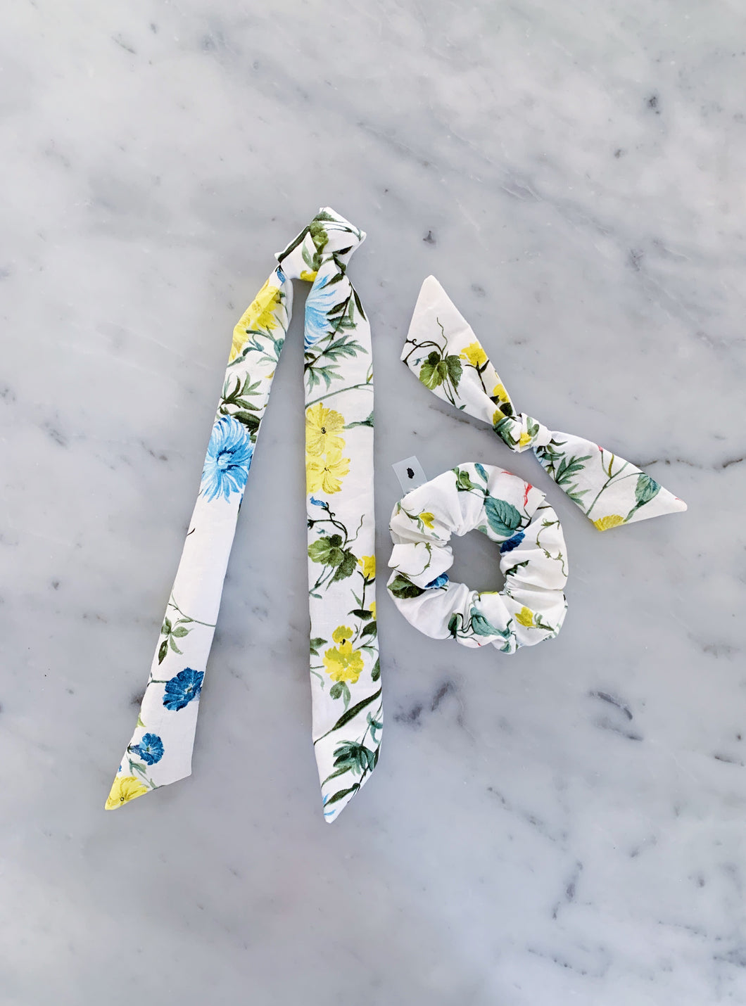 Anthro Floral Scrunchie Ties