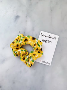 Mini Sunflower Scrunchie