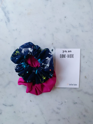 SALE WEEKLY DUO You're Dino-Mite Scrunchie Duo