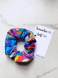 Lisa Frank Stained Glass Scrunchie