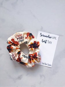 Gobble Turkey Thanksgiving Scrunchie