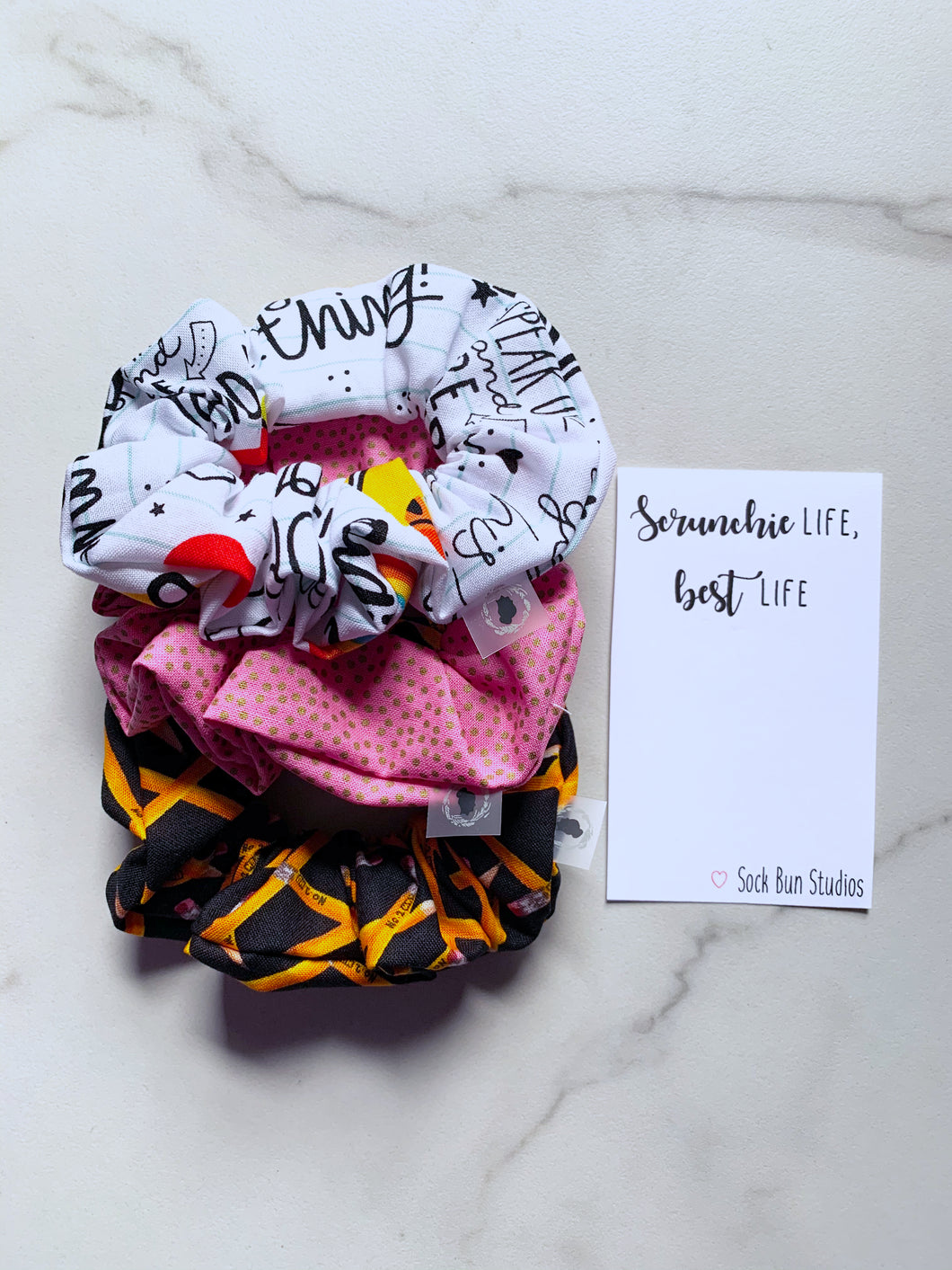Back to School Scrunchie Pack