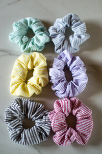 Seersucker Scrunchie Trio Pack