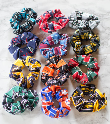 NHL Hockey Scrunchies