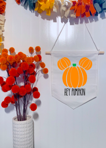 Hey Pumpkin Mickey Banner