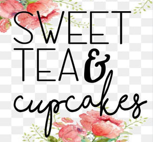 Sweet Tea and Cupcakes Crewneck Tee Shirt