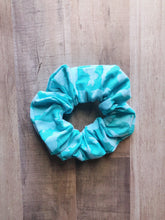 Load image into Gallery viewer, Velvet Blue Bunny Easter Scrunchie