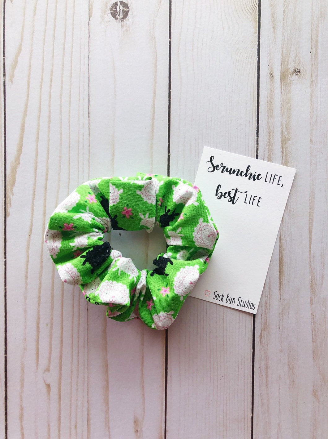 SALE Sheep Scrunchie