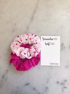 SALE WEEKLY DUO Pretty In Pink Scrunchie Duo