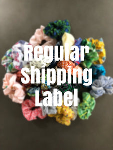 Reprint Scrunchie Shipping Label