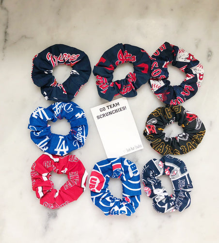 MLB Baseball Scrunchie