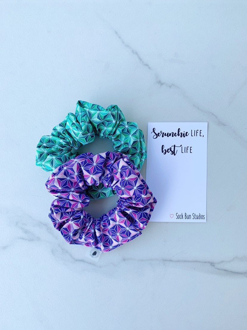 SALE Disney EPCOT Print Scrunchie