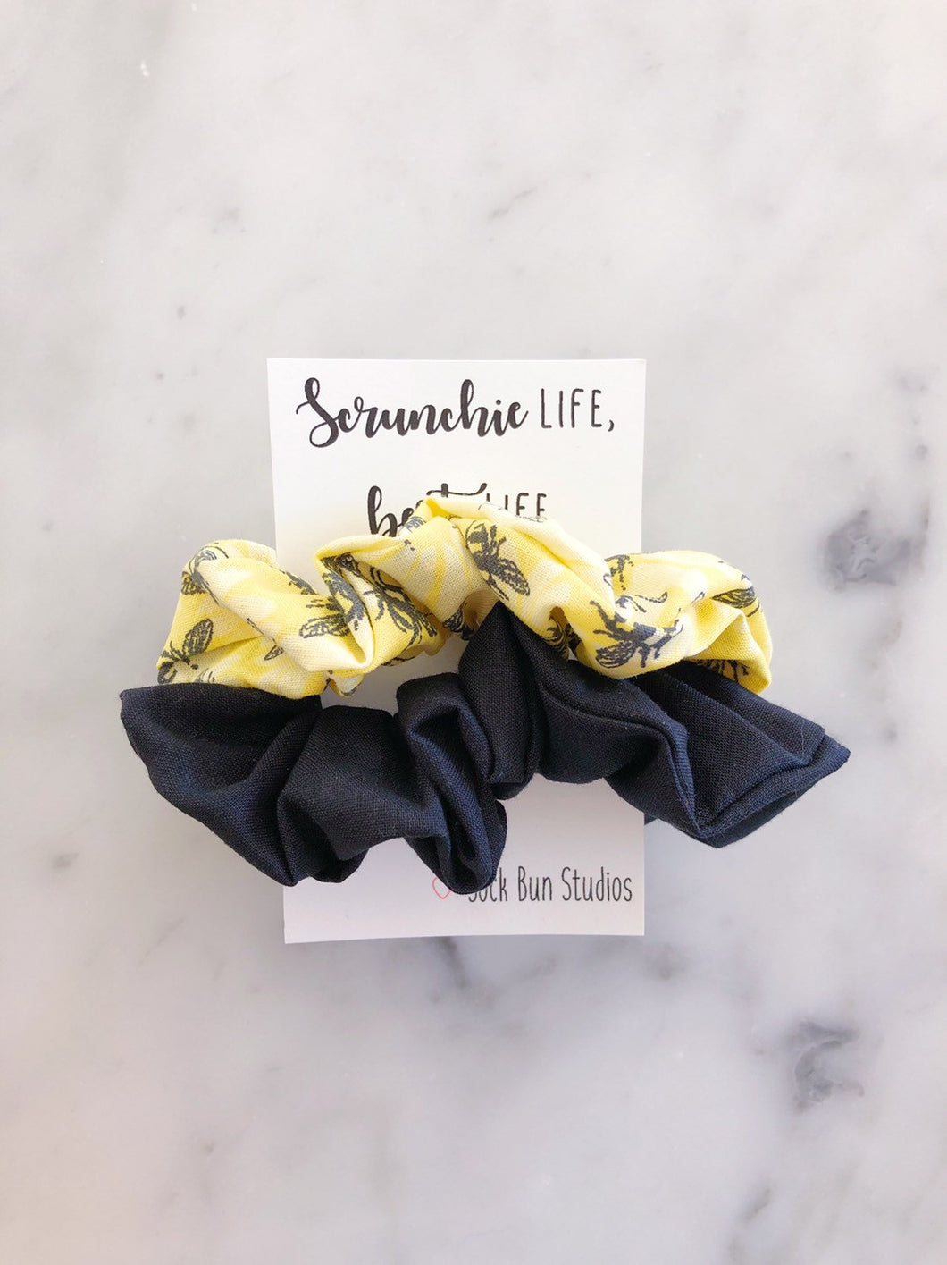WEEKLY DUO Bumblebee Scrunchie Duo