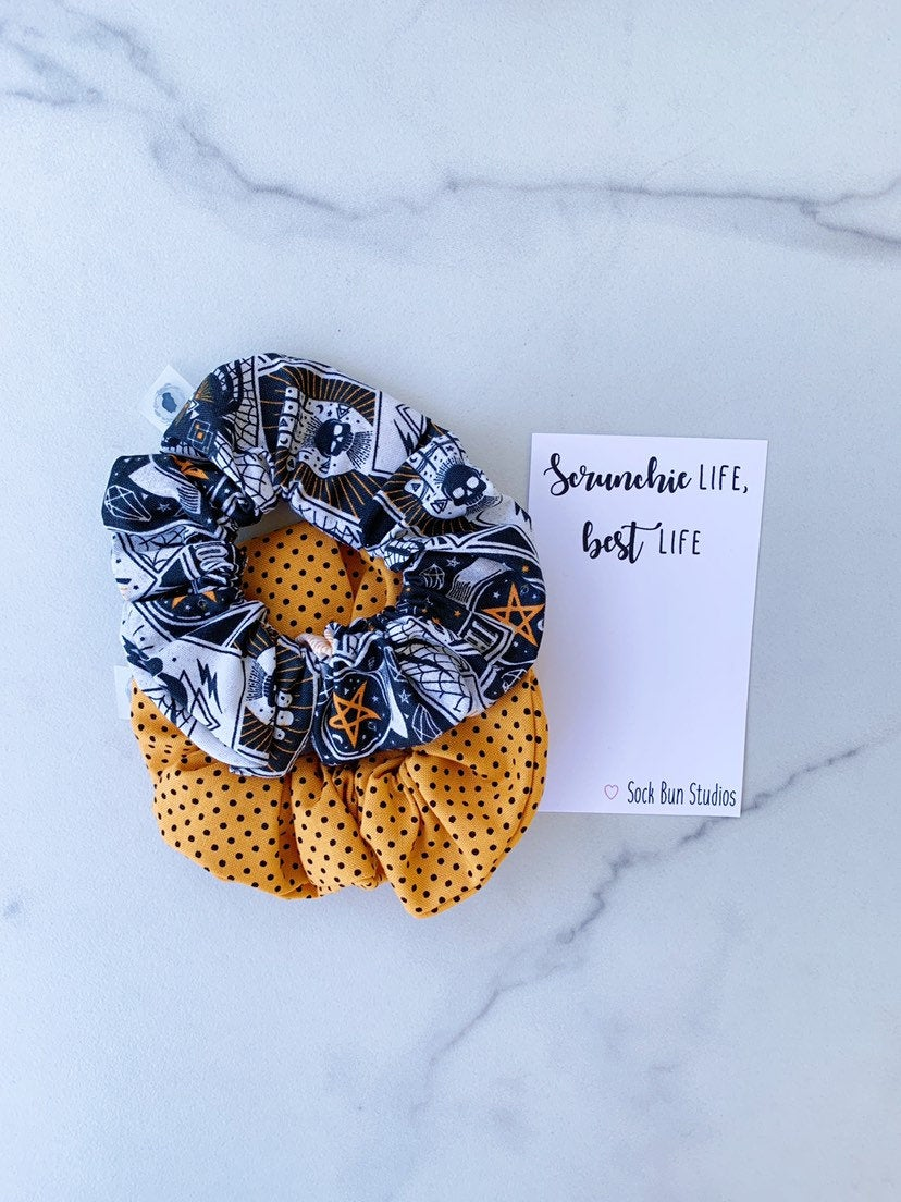 WEEKLY DUO Halloween Astrology Scrunchie Duo