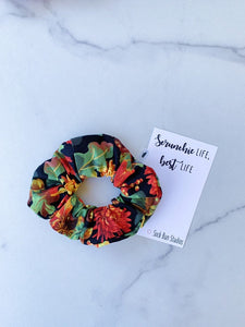 Fall Mums Scrunchies