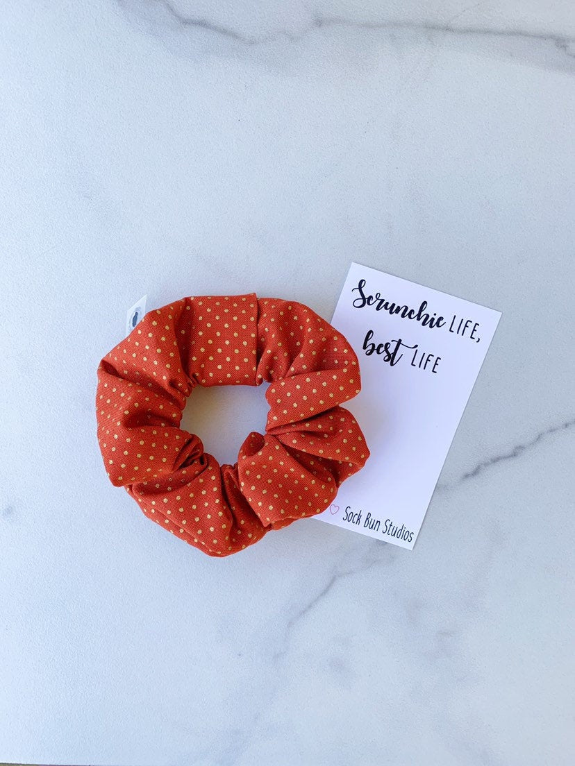 Harvest Polka Dot Scrunchie