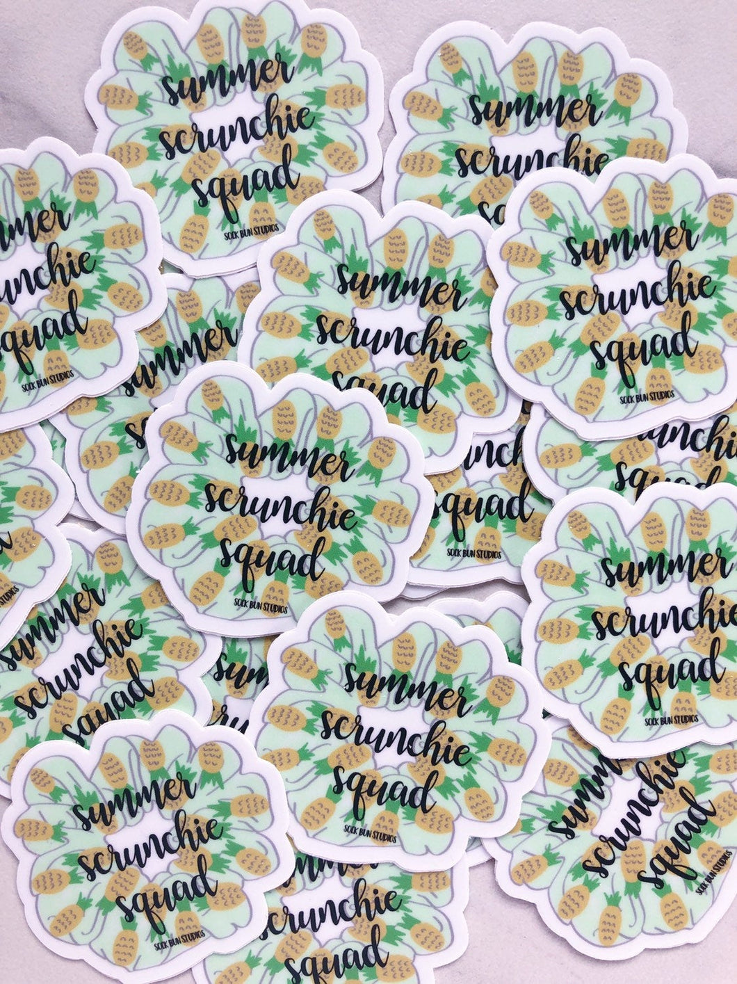Sock Bun Studios Summer Scrunchie Squad Vinyl Sticker