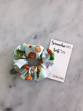 Load image into Gallery viewer, WEEKLY DUO Hawaiian Luau Pineapple Scrunchie Duo