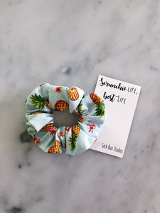 WEEKLY DUO Hawaiian Luau Pineapple Scrunchie Duo