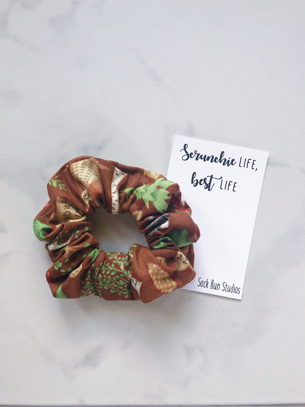 SALE Fall Camping Scrunchie
