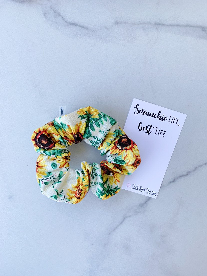 Sunflower and Mums Scrunchie