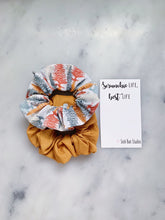 Load image into Gallery viewer, WEEKLY DUO Fall Pines Scrunchie Duo