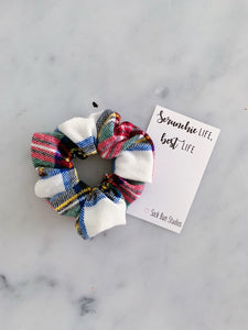 Scottish Tartan Flannel Scrunchie