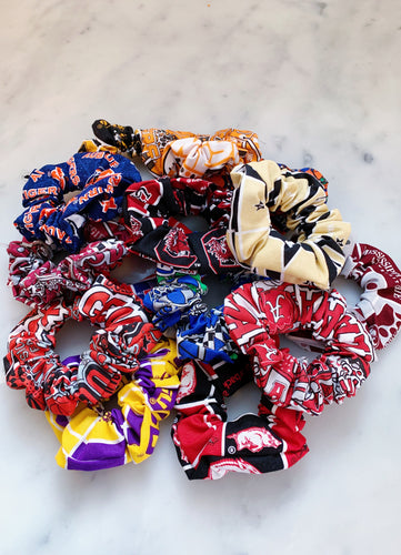 SEC College Football Scrunchies