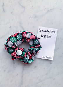 Geometric Snowflake Christmas Scrunchie
