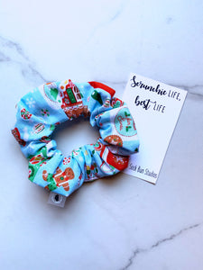 NEW Gingerbread Decorating Christmas Scrunchie