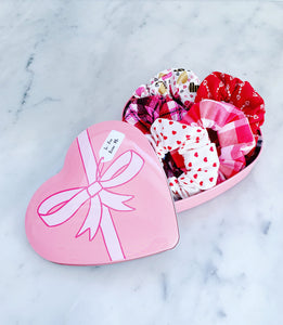 Valentine's Heart Tin Scrunchie Pack