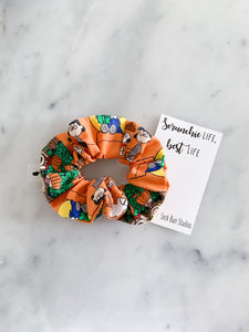 Pumpkin Patch Charlie Brown Peanuts Scrunchie