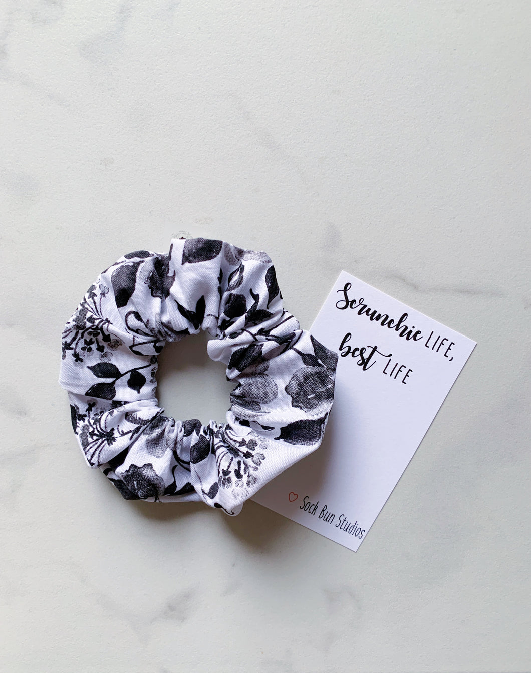 SALE Sophisticated Floral Scrunchie