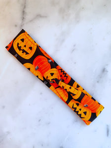 Jack o Lanterns Knotted Headband