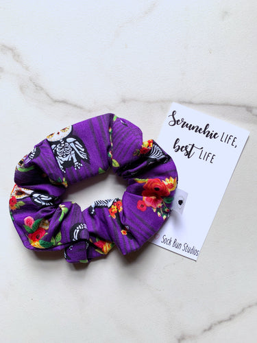 NEW Floral Skeleton Animals Scrunchie