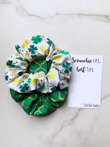 NEW WEEKLY DUO Pot of Gold St. Patrick's Day Scrunchie Duo