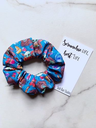 NEW The Child Blue Snacks Scrunchie