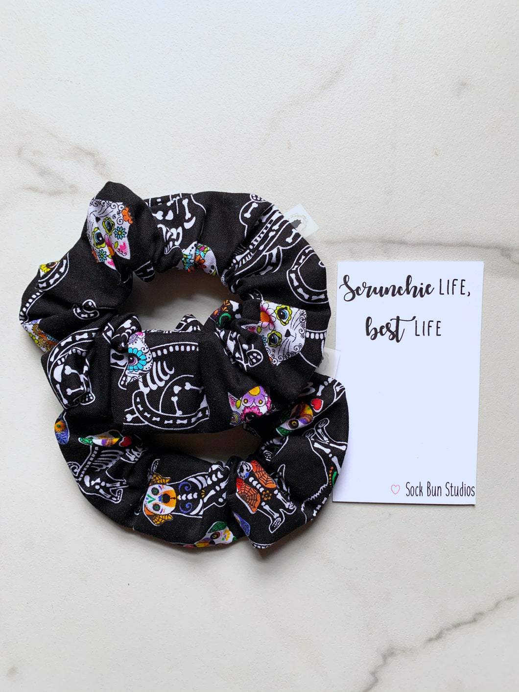 NEW Skeleton Cats and Dogs  Scrunchie