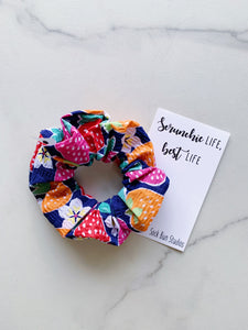 THROWBACK Strawberry Blossoms Scrunchie