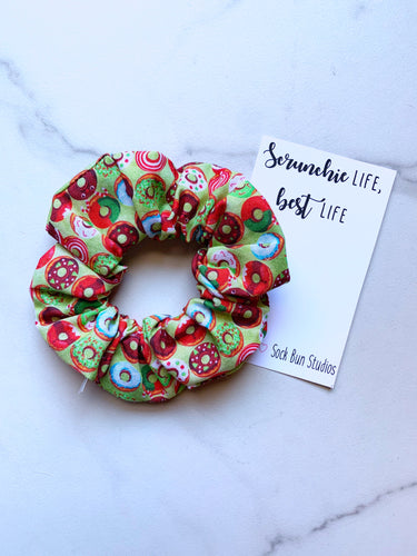Christmas Donuts Scrunchie